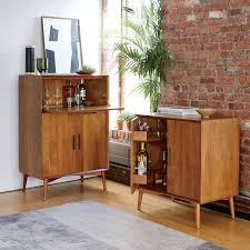 Flip Top Bar Cabinet Mid Century Bar Cabinet Small West Elm