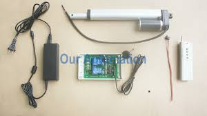 how to control linear actuator by remote transmitter and manual switch