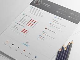 Psd Resume Template Resume Cv Template Psd Free Download Free Psd Vector Icons