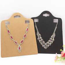 big size necklace images 30pcs lot kraft paper blank brown pendant card big size necklace jpg