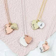 double hearts necklace images Personalised double heart charm necklace lisa angel jpg