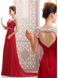 courtlike a line straps pearls beading backless court train long