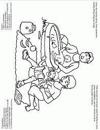 coloring pages family picnic coloring