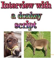 scripts five skits about donkeys in the bible by applebee