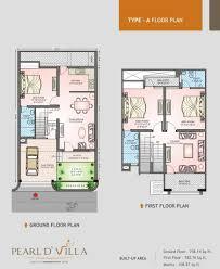 villa plans floor plans pearld villa jagatpura jaipur residential