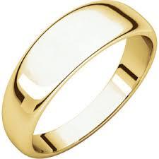 marine wedding rings wedding bands 14kt yellow 6mm half tapered band marine