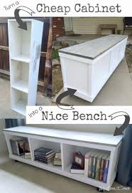 Diy Bookshelves Cheap by Best 25 Bookcase Bench Ideas On Pinterest Bedroom Bench Ikea