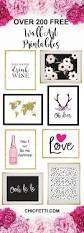 over 200 free printable wall art from chicfetti easy wall art