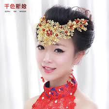 flower accessories qschinese gold leaf flowers flower hair accessories beautiful