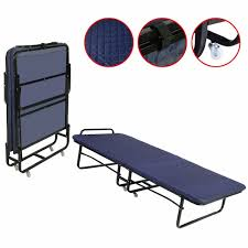 Folding Bed With Mattress Goplus Folding Bed Foam Mattress Roll Away Guest Portable