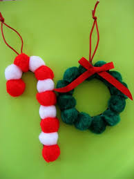 pom pom ornaments family crafts