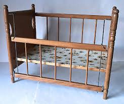 vintage antique wooden baby toy doll crib cradle bed what u0027s it worth