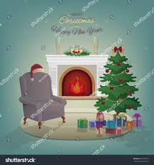 home interiors and gifts candles merry home interior fireplace stock vector