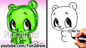 kawaii gummy bear drawing tutorial easy things to draw for