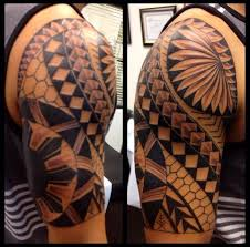 collection of 25 grey polynesian and biomechanical tattoos on