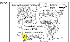 nissan altima with engine speed sensor circuit malfunction