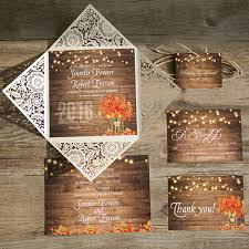 Mason Jar String Lights Cheap Rustic Wooden String Light Mason Jar Fall Wedding Invites