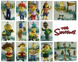 set of 14 the simpsons tree ornaments