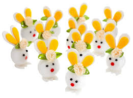 bunny decorations 77400 easter bunny decorations 12 pack poundland