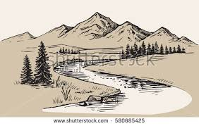 landscape drawing stock images royalty free images u0026 vectors