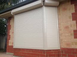 bay window with motorised roller shutter bob burns blinds