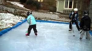backyard ice rink in nova scotia winter 2012 youtube