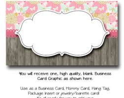 Business Card Sheet Template Blank Business Cards Etsy