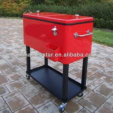 patio beverage cooler cart stainless steel cooler box with wheel cooler cart with wheel
