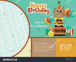 graphic design birthday invitations happy birthday invitation card design vector stock vector