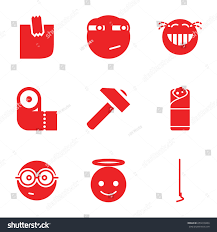 yellow icons set set 9 yellow stock vector 659210404 shutterstock
