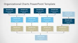 four levels inverted tree orgchart for powerpoint slidemodel
