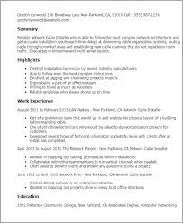Computer Technician Resume Samples by Download Network Technician Sample Resume Haadyaooverbayresort Com