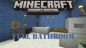 minecraft bathroom designs how to make a full bathroom minecraft pocket edition youtube