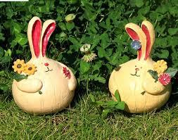 aliexpress buy 2pcs resin garden decor rabbit