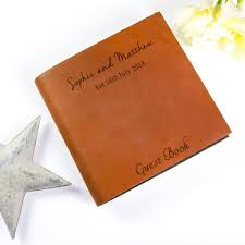 leather guest book personalised handmade leather guest book by the rustic dish