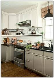 New Cabinet Doors Lowes Modern Painted Kitchen Cabinet With White Appliances Kitchen