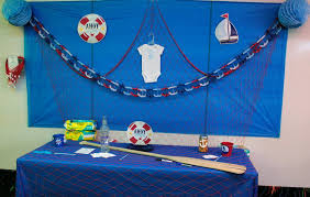 nautical baby shower decorations for home ahoy it s a boy nautical baby shower orientaltrading we got the