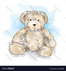 drawing teddy bear color royalty free vector image