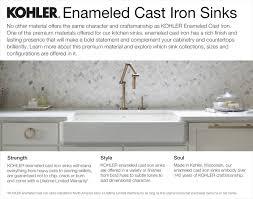 KOHLER Hartland DropIn CastIron  In Hole Double Basin - Kitchen sink cast iron