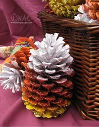 diy candy corn pine cones who needs a cape