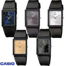 Jam Tangan Casio Karet jual casio analog jam tangan wanita hitam karet mq 38