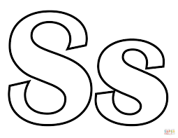 classic letter s coloring page in coloring page glum me