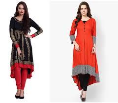 kurti pattern for fat ladies 22 types of kurtis every woman should try fashionbuzzer com