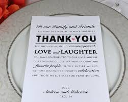 personalized thank you cards printed wedding reception thank you card personalized thank