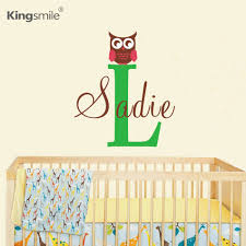 modern baby art modern bird studios transforms your life into art compare prices on modern baby art online shoppingbuy low price modern owl personalized name initial wall stickers