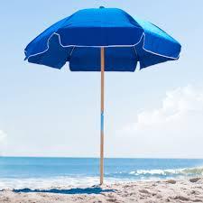 Beech Umbrella 6 5 Ft Frankford Steel Beach Umbrella Acrylic Fabric Beach