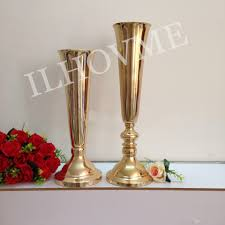 golden silver flower vase european style wedding centerpiece