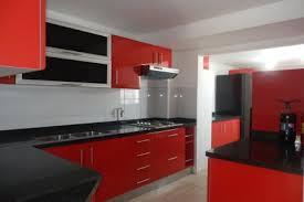 Red Black White Kitchen - black and red kitchen design kitchen ideas red and black red and