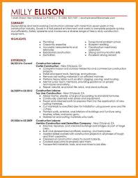 Laborer Resume Objective Examples by Sample Construction Resume Template Professional Construction