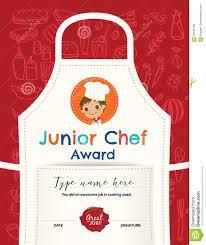 kids cooking class certificate design template stock vector